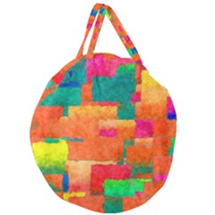 Pattern Texture Background Color Giant Round Zipper Tote