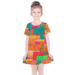 Pattern Texture Background Color Kids  Simple Cotton Dress by Nexatart