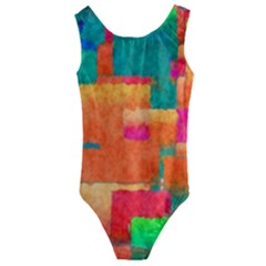 Pattern Texture Background Color Kids  Cut Out Back One Piece Swimsuit