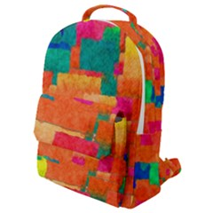 Pattern Texture Background Color Flap Pocket Backpack (small)