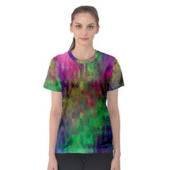 Background Abstract Art Color Women s Sport Mesh Tee