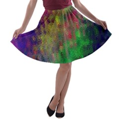 Background Abstract Art Color A Line Skater Skirt