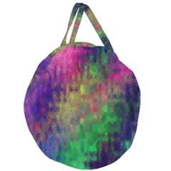 Background Abstract Art Color Giant Round Zipper Tote