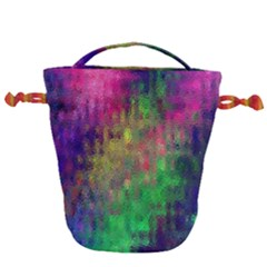 Background Abstract Art Color Drawstring Bucket Bag by Nexatart