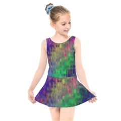 Background Abstract Art Color Kids  Skater Dress Swimsuit