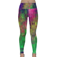 Background Abstract Art Color Lightweight Velour Classic Yoga Leggings