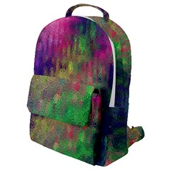 Background Abstract Art Color Flap Pocket Backpack (small)