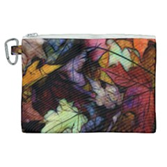 Fall Leaves Abstract Canvas Cosmetic Bag (xl) by bloomingvinedesign