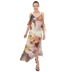 Fall Leaves Bright Maxi Chiffon Cover Up Dress by bloomingvinedesign