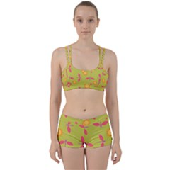 Dragonfly Sun Flower Seamlessly Perfect Fit Gym Set