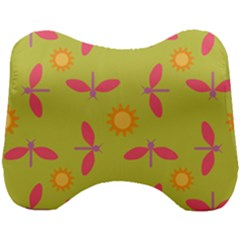 Dragonfly Sun Flower Seamlessly Head Support Cushion