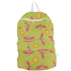 Dragonfly Sun Flower Seamlessly Foldable Lightweight Backpack