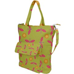 Dragonfly Sun Flower Seamlessly Shoulder Tote Bag