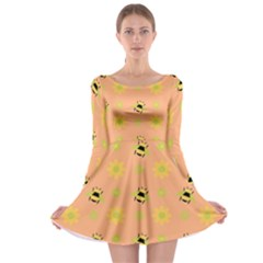 Bee A Bug Nature Long Sleeve Skater Dress by Nexatart