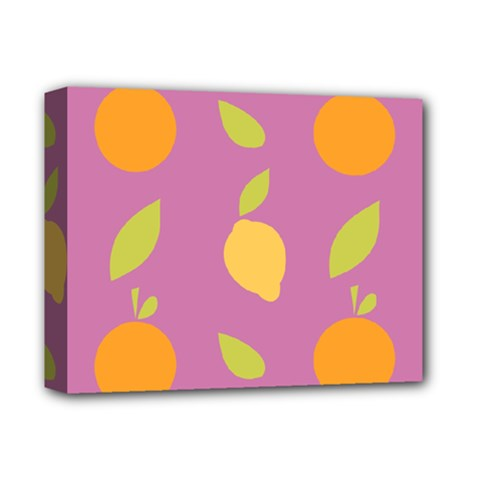 Seamlessly Pattern Fruits Fruit Deluxe Canvas 14  X 11  (stretched) by Nexatart