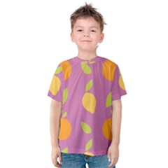 Seamlessly Pattern Fruits Fruit Kids  Cotton Tee