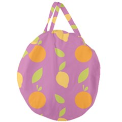 Seamlessly Pattern Fruits Fruit Giant Round Zipper Tote