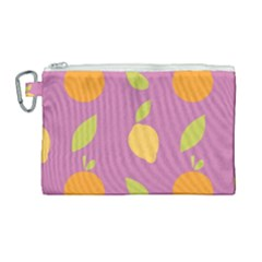Seamlessly Pattern Fruits Fruit Canvas Cosmetic Bag (large) by Nexatart