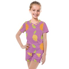 Seamlessly Pattern Fruits Fruit Kids  Mesh Tee And Shorts Set