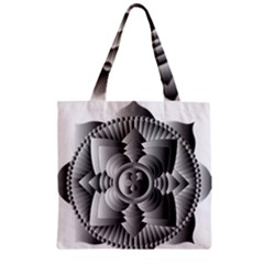 Lotus Mandala Flower Floral Zipper Grocery Tote Bag