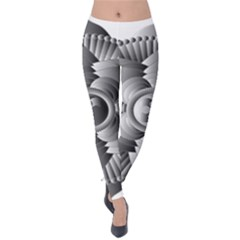 Lotus Mandala Flower Floral Velvet Leggings
