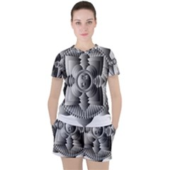 Lotus Mandala Flower Floral Women s Tee And Shorts Set by Nexatart
