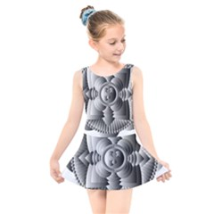 Lotus Mandala Flower Floral Kids  Skater Dress Swimsuit