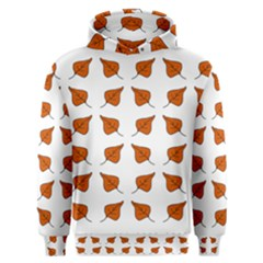 Pattern Fallen Leaves Autumn Men s Overhead Hoodie