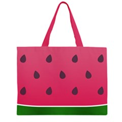 Watermelon Fruit Summer Red Fresh Zipper Large Tote Bag