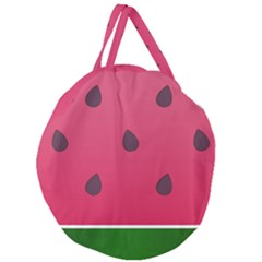 Watermelon Fruit Summer Red Fresh Giant Round Zipper Tote
