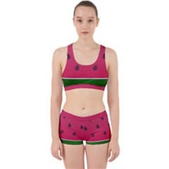 Watermelon Fruit Summer Red Fresh Work It Out Gym Set