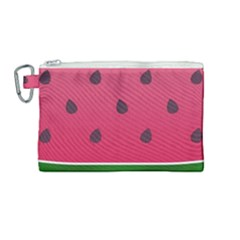 Watermelon Fruit Summer Red Fresh Canvas Cosmetic Bag (medium) by Nexatart