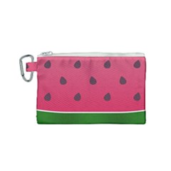 Watermelon Fruit Summer Red Fresh Canvas Cosmetic Bag (small) by Nexatart
