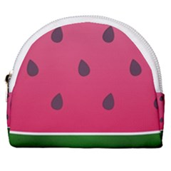 Watermelon Fruit Summer Red Fresh Horseshoe Style Canvas Pouch