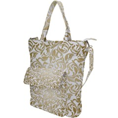 Gold Vintage Rococo Model Patern Shoulder Tote Bag