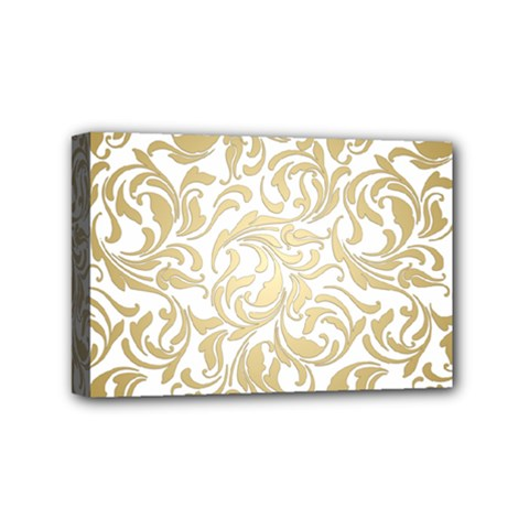 Gold Vintage Rococo Model Patern Mini Canvas 6  X 4  (stretched) by Nexatart