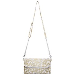 Gold Vintage Rococo Model Patern Mini Crossbody Handbag
