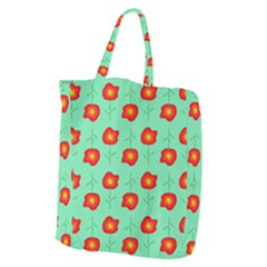 Flowers Pattern Ornament Template Giant Grocery Tote