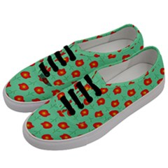 Flowers Pattern Ornament Template Men s Classic Low Top Sneakers by Nexatart