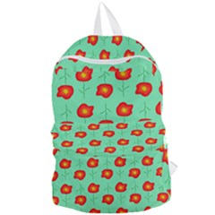 Flowers Pattern Ornament Template Foldable Lightweight Backpack