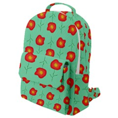 Flowers Pattern Ornament Template Flap Pocket Backpack (small)