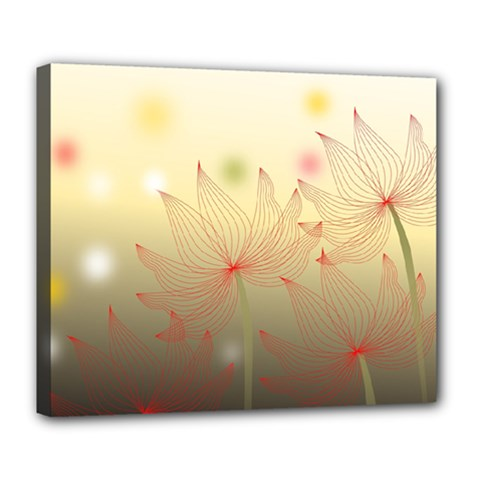 Flower Summer S Nature Plant Deluxe Canvas 24  X 20  (stretched)