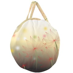 Flower Summer S Nature Plant Giant Round Zipper Tote