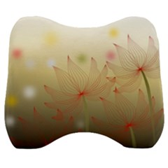 Flower Summer S Nature Plant Velour Head Support Cushion