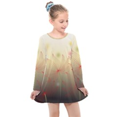 Flower Summer S Nature Plant Kids  Long Sleeve Dress