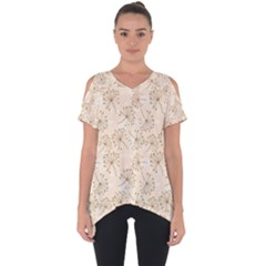 Dandelion Rose Rosa Flower Cut Out Side Drop Tee by Nexatart