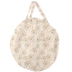 Dandelion Rose Rosa Flower Giant Round Zipper Tote