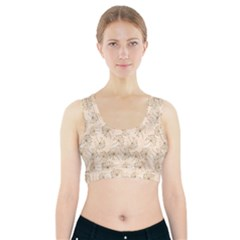 Dandelion Rose Rosa Flower Sports Bra With Pocket
