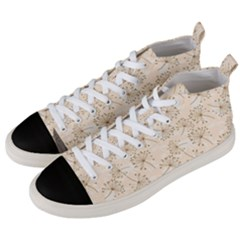 Dandelion Rose Rosa Flower Men s Mid Top Canvas Sneakers by Nexatart
