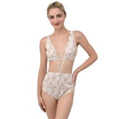 Dandelion Rose Rosa Flower Tied Up Two Piece Swimsuit